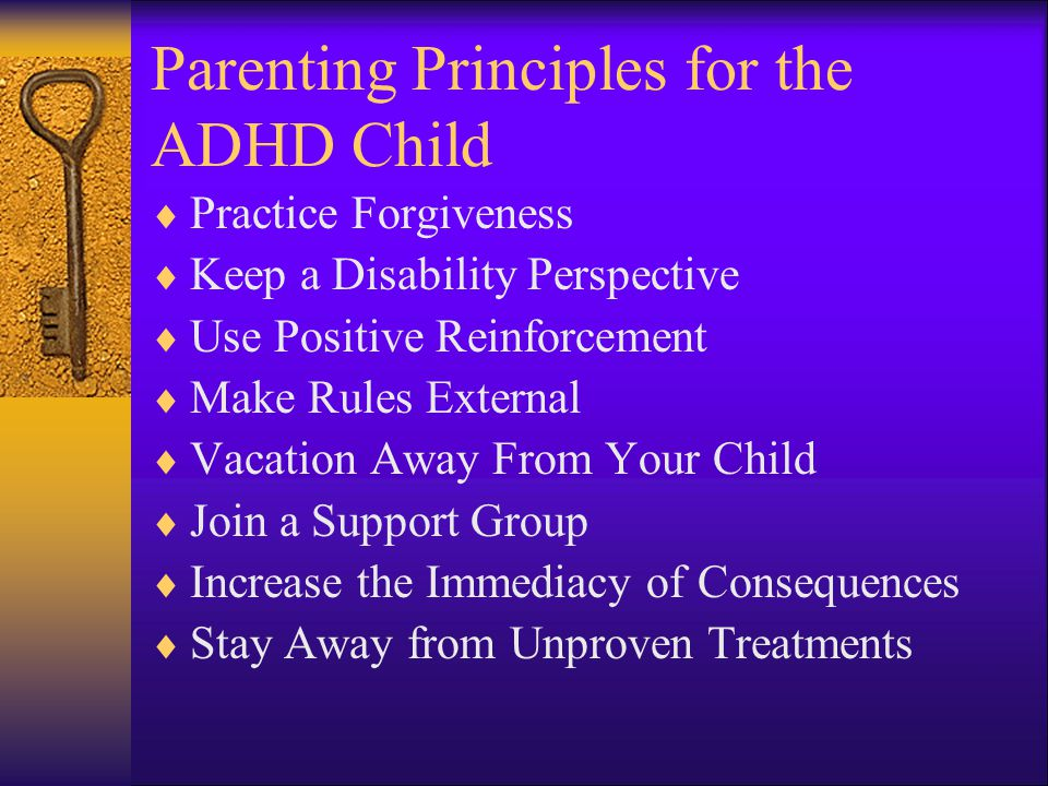 Parenting Principles for the ADHD Child