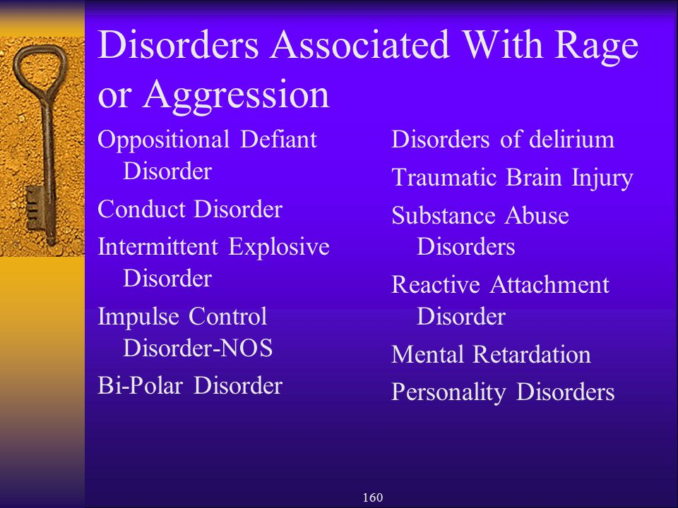 Disorders Associated With Rage or Aggression