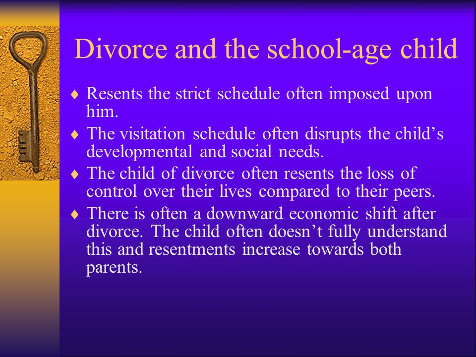Divorce and the school-age child