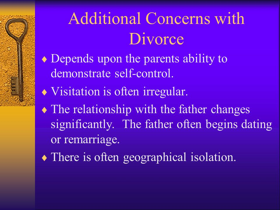 Additional Concerns with Divorce