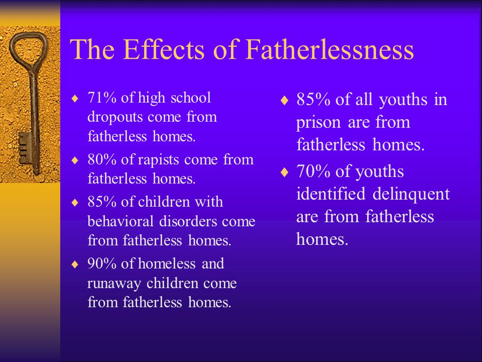 The Effects of Fatherlessness