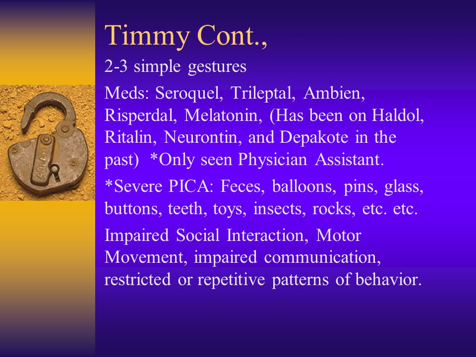 Timmy Cont., 2-3 simple gestures