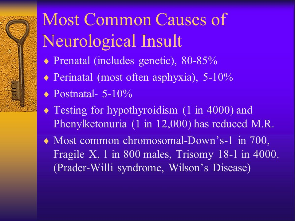Most Common Causes of Neurological Insult