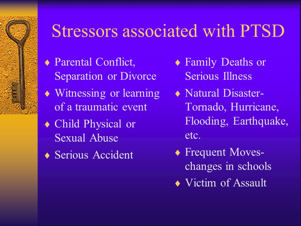 Stressors associated with PTSD