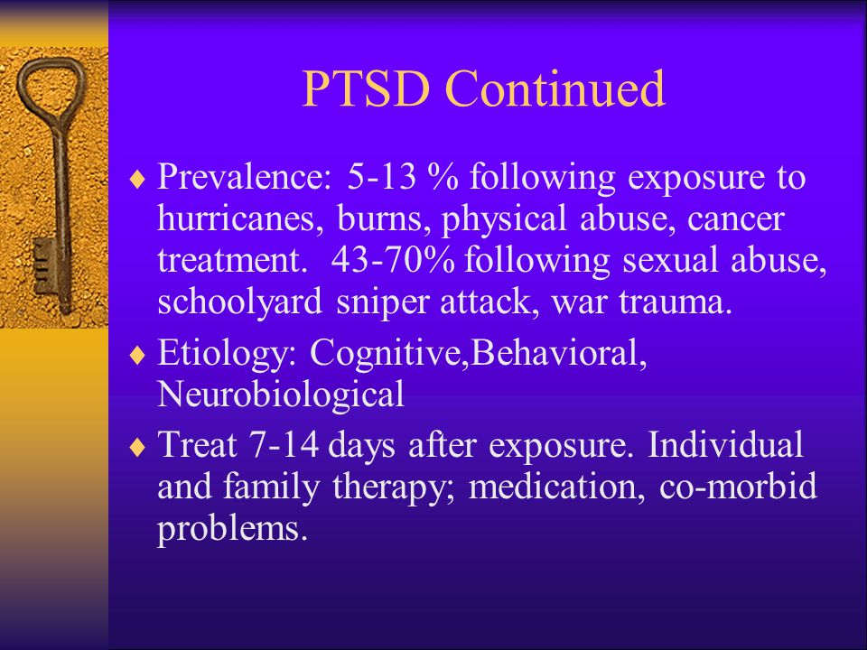 PTSD Continued