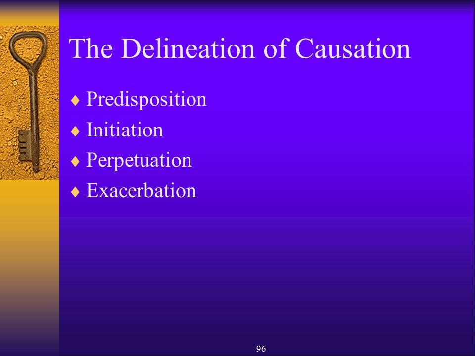 The Delineation of Causation