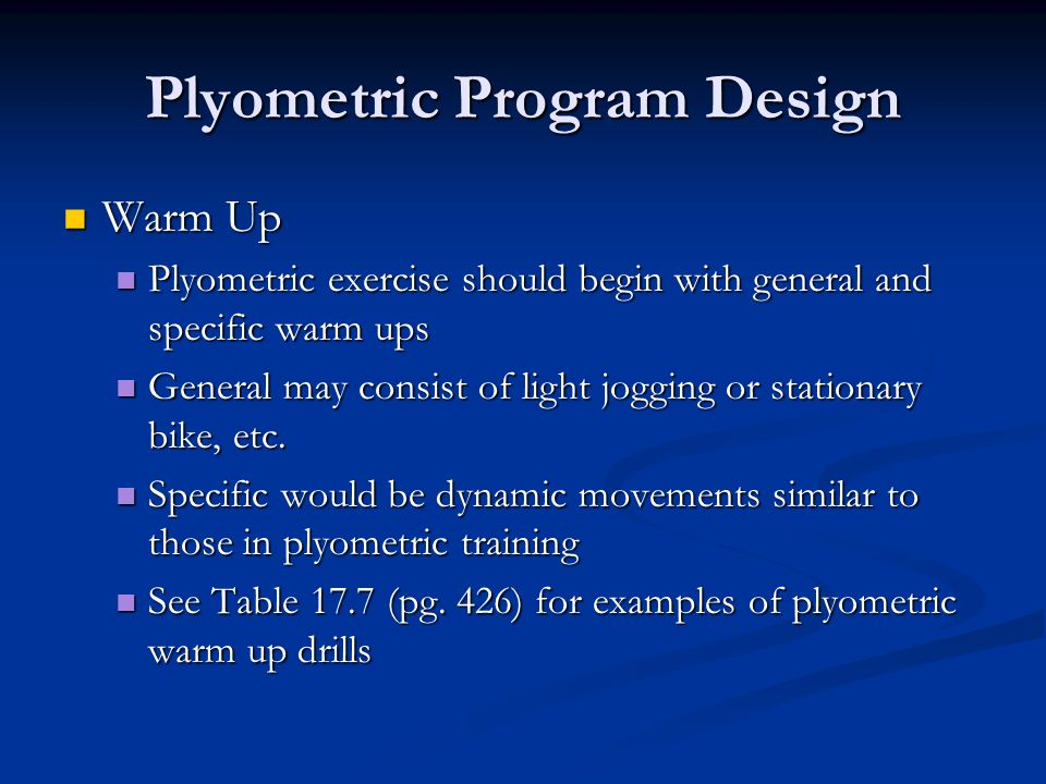 Plyometric and Speed Training: Part A - ppt video online