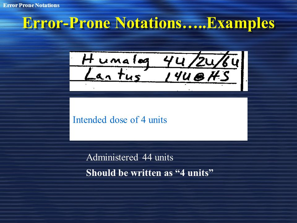 Error-Prone Notations…..Examples