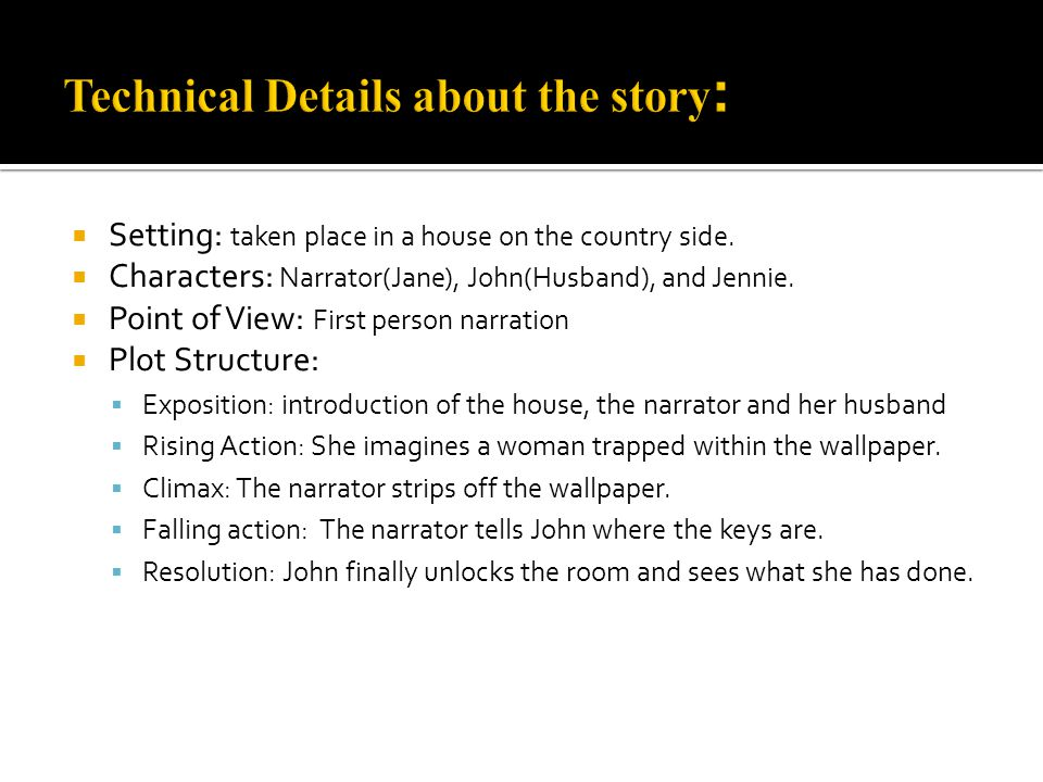 Technical Details About The Story
