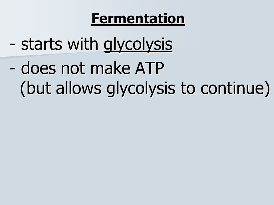 - starts with glycolysis
