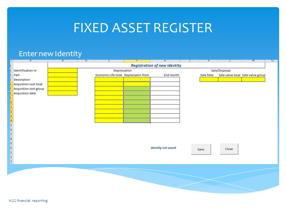 fixed asset register instruction of excel template fixed assets