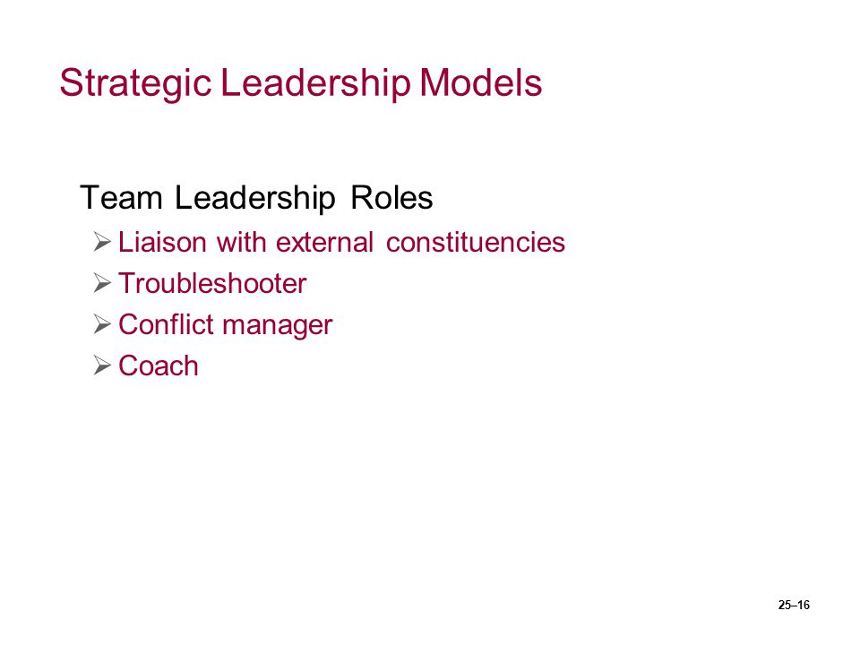 Strategic Leadership Models
