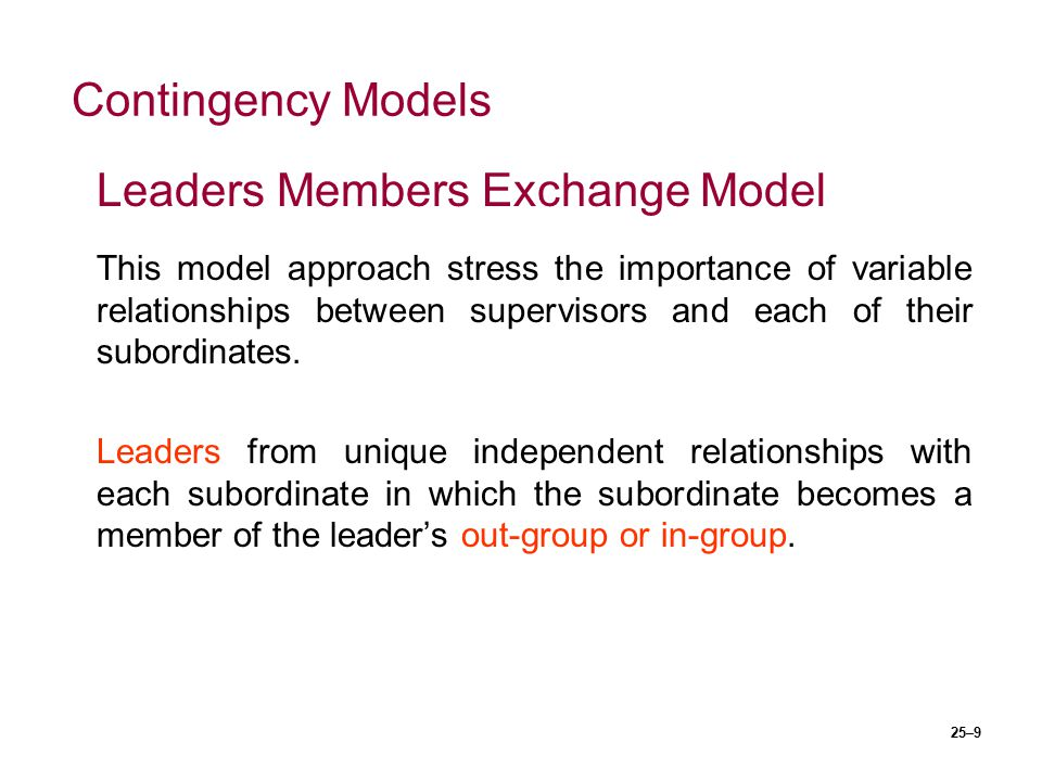 Leaders Members Exchange Model