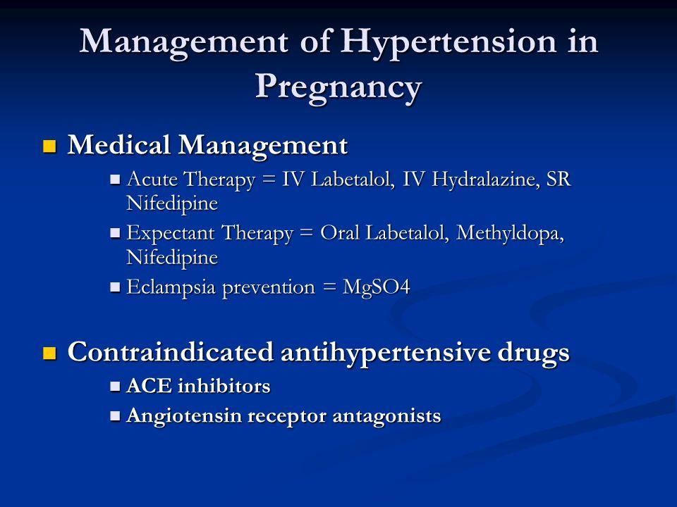hypertension and pregnancy medication