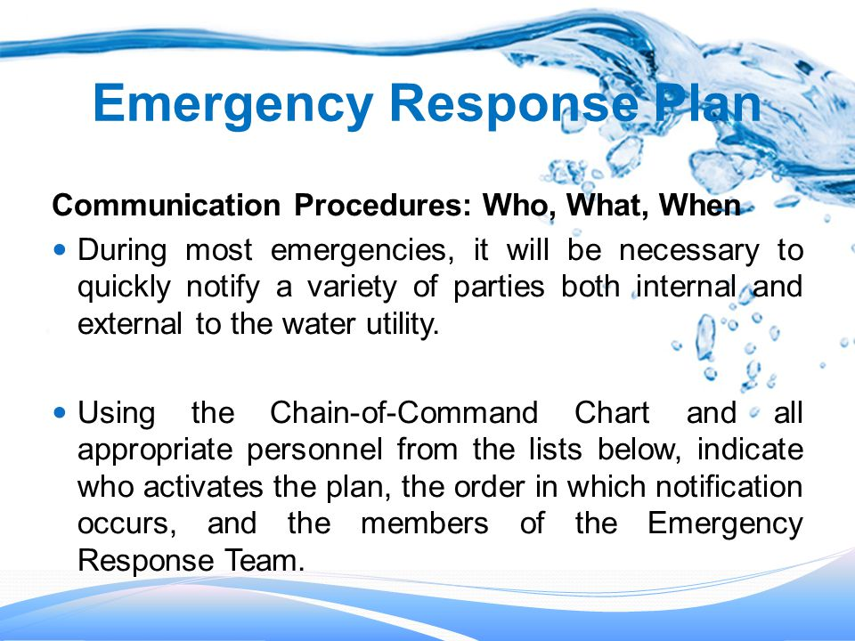 Emergency Response Plans - ppt video online download