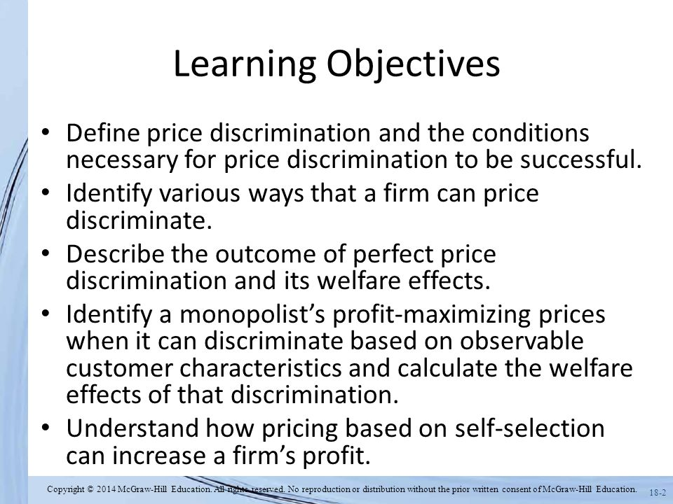 define pricing objectives