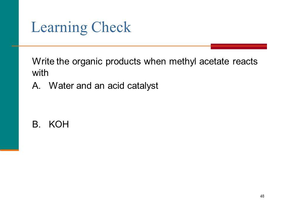 how to prepare methyl acetate