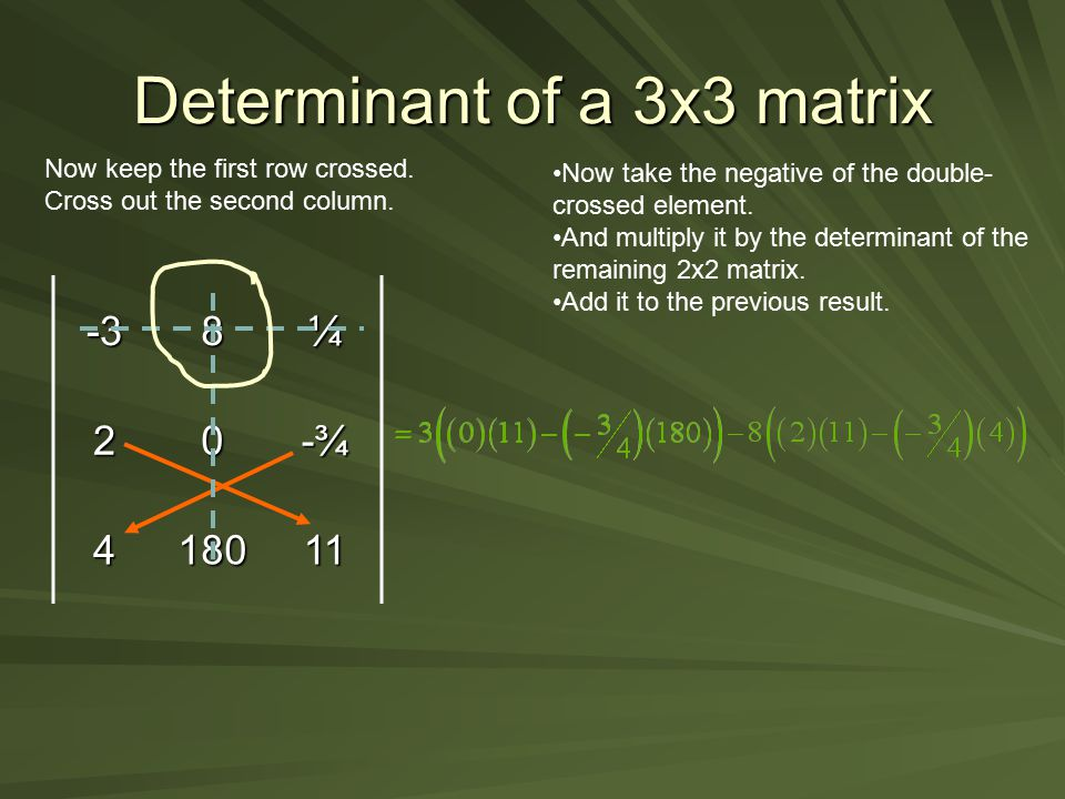 Determinant of a 3x3 matrix