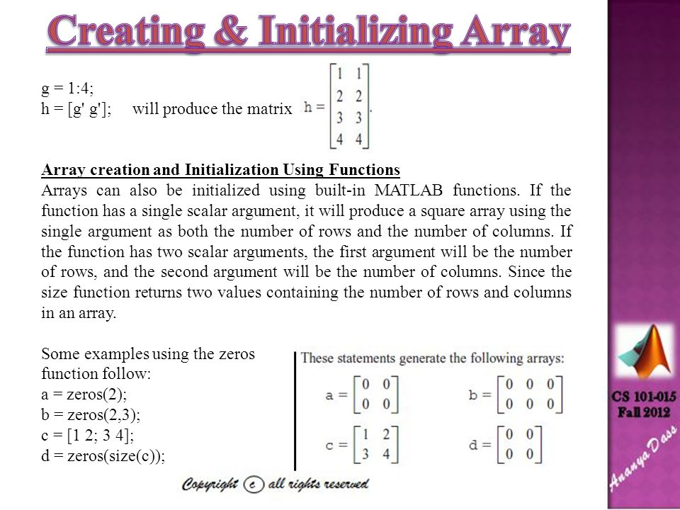 Introduction to Array The fundamental unit of data in any