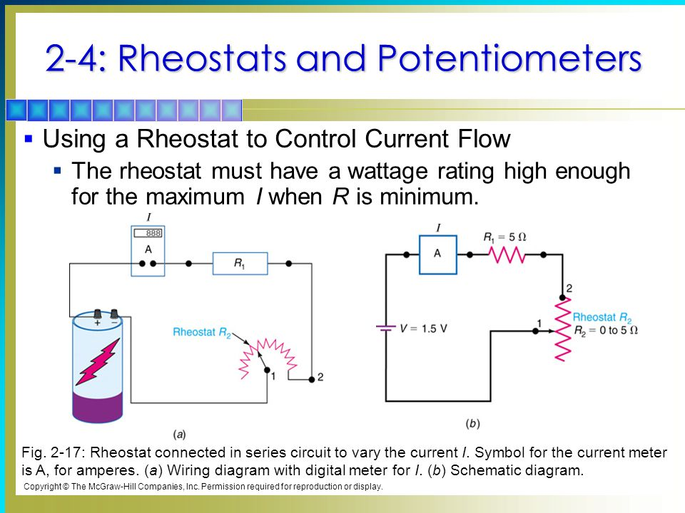 2-4: Rheostats and Potentiometers