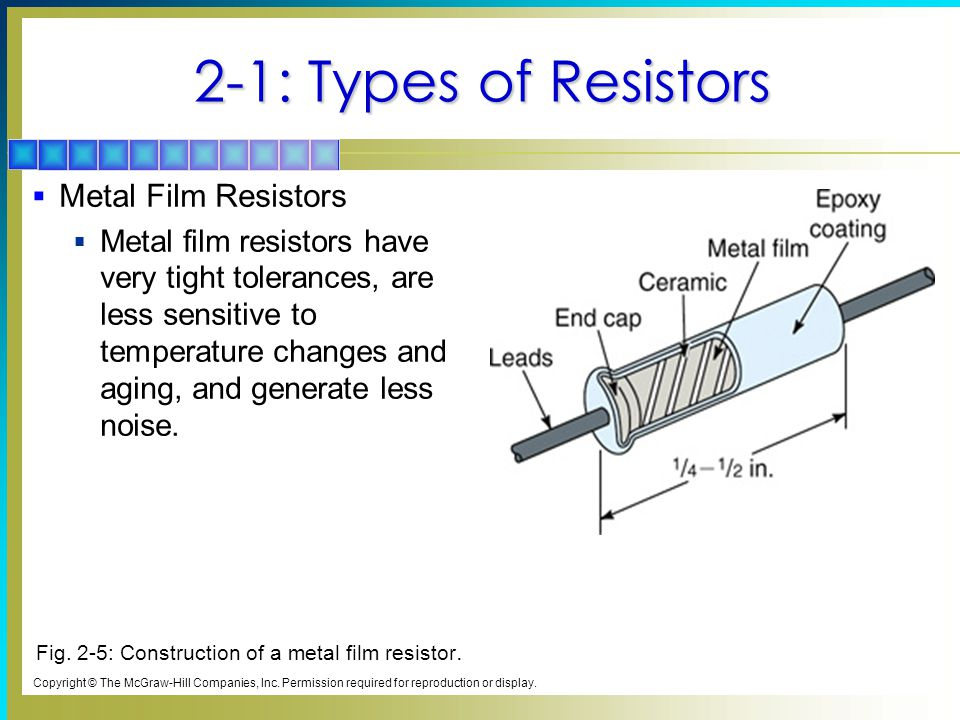 2 1%3A+Types+of+Resistors+Metal+Film+Resistors 2 resistors chapter topics covered in chapter 2 ppt video online