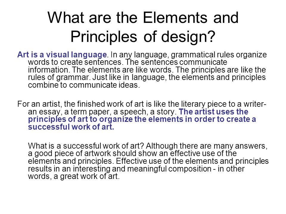 essay design principles This essay examines the principles of design in the construction of both traditional 2d animation and 3d computer animation from the beginning to the completion of animation.