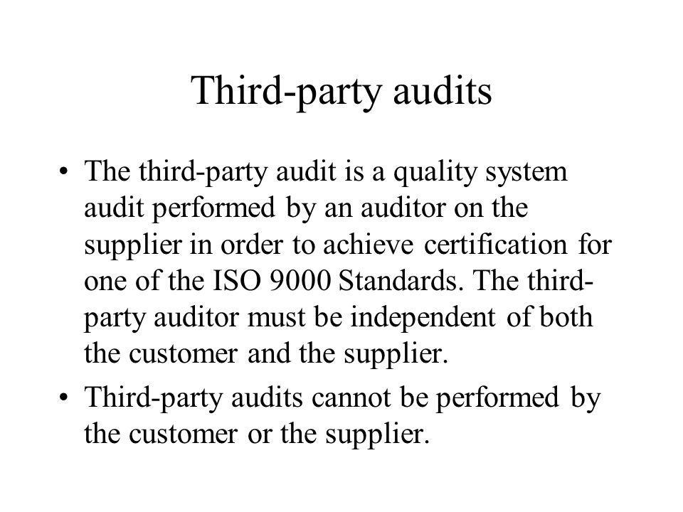 Third-party audits