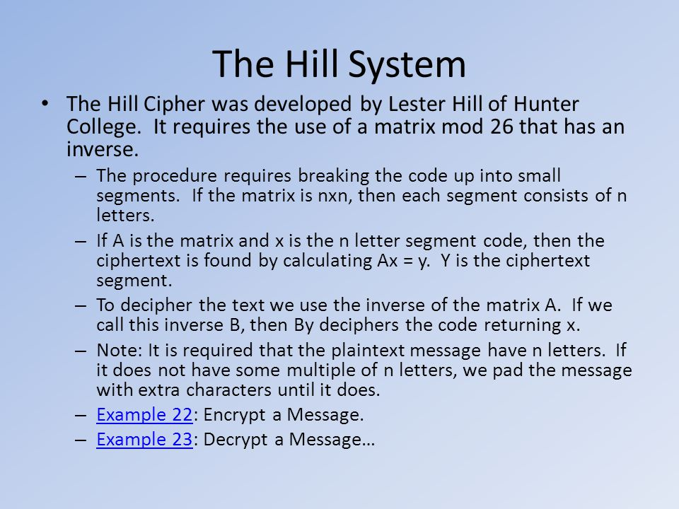 Section 2 9 The Hill Cipher
