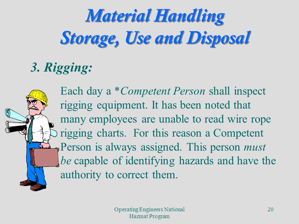 Subpart H-Material Handling, Storage, Use and Disposal CFR - ppt ...
