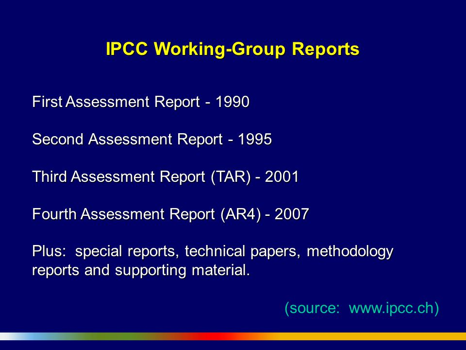 IPCC Working-Group Reports