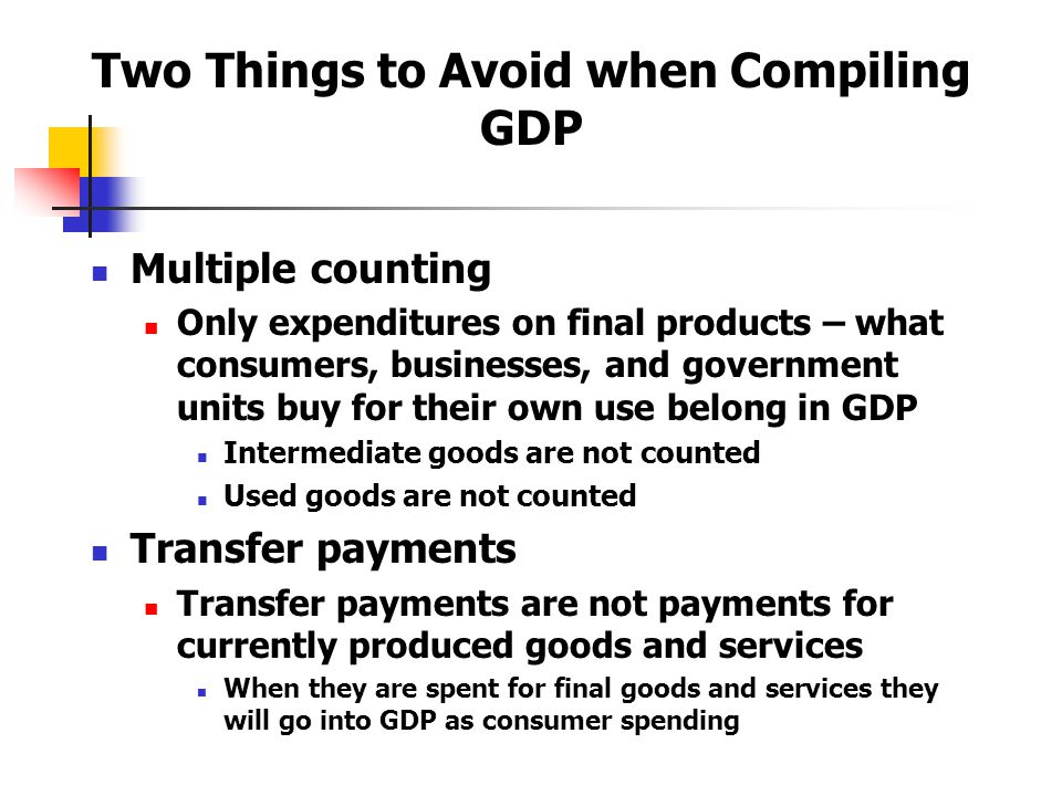 Two Things to Avoid when Compiling GDP