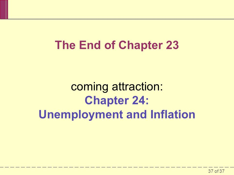 coming attraction: Chapter 24: Unemployment and Inflation
