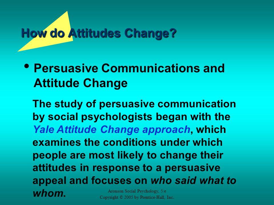 the psychology of attitudes