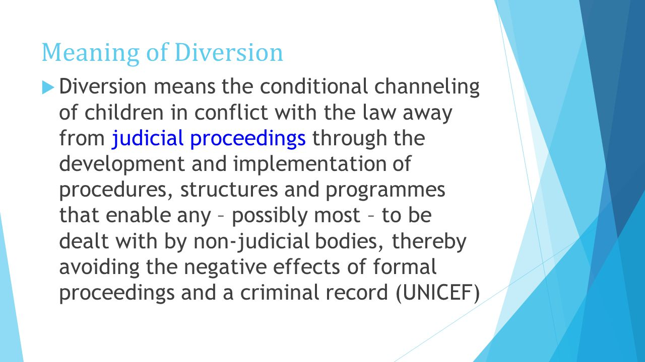 Diversion and Alternative Measures - ppt video online download