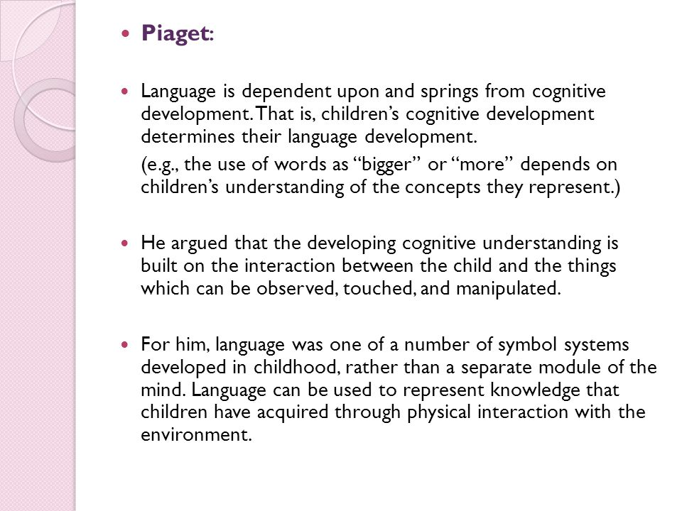 jean piaget language acquisition theory
