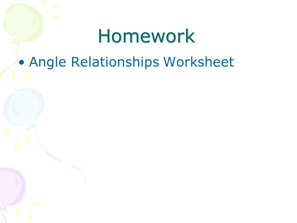 Angle Relationships Ppt Video Online Download