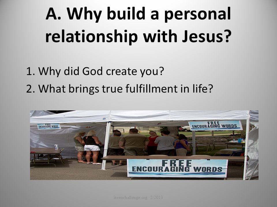 how to create a personal relationship with god