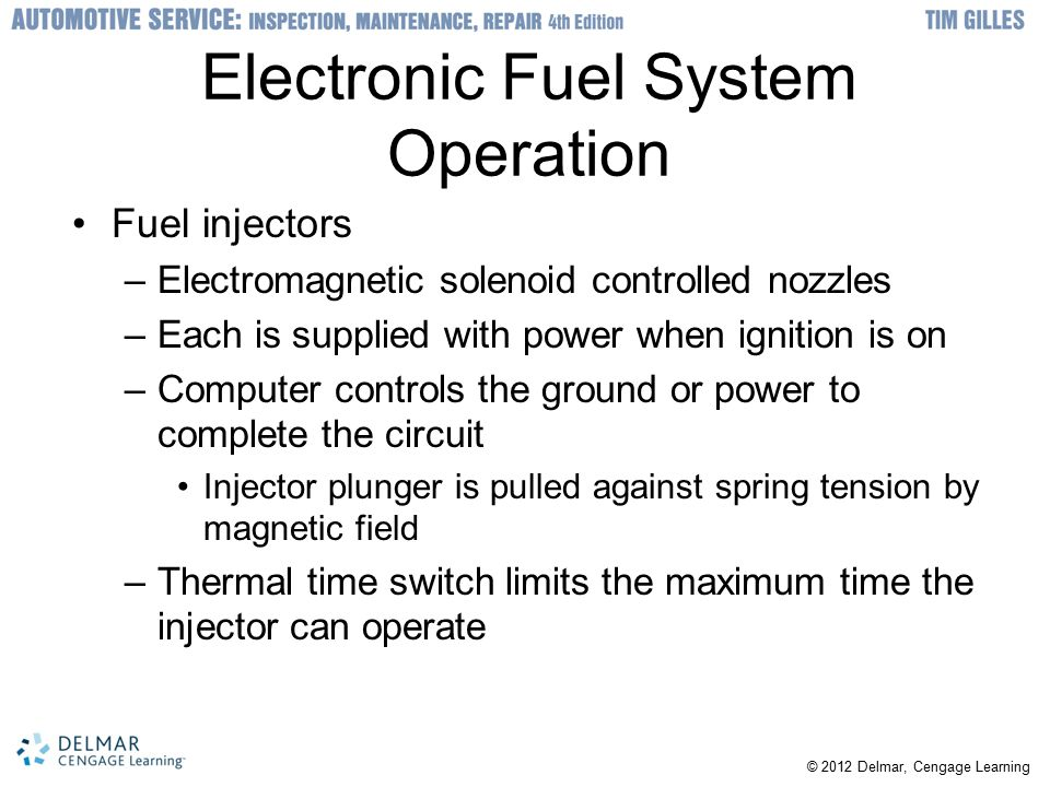 Electronic Fuel System Operation