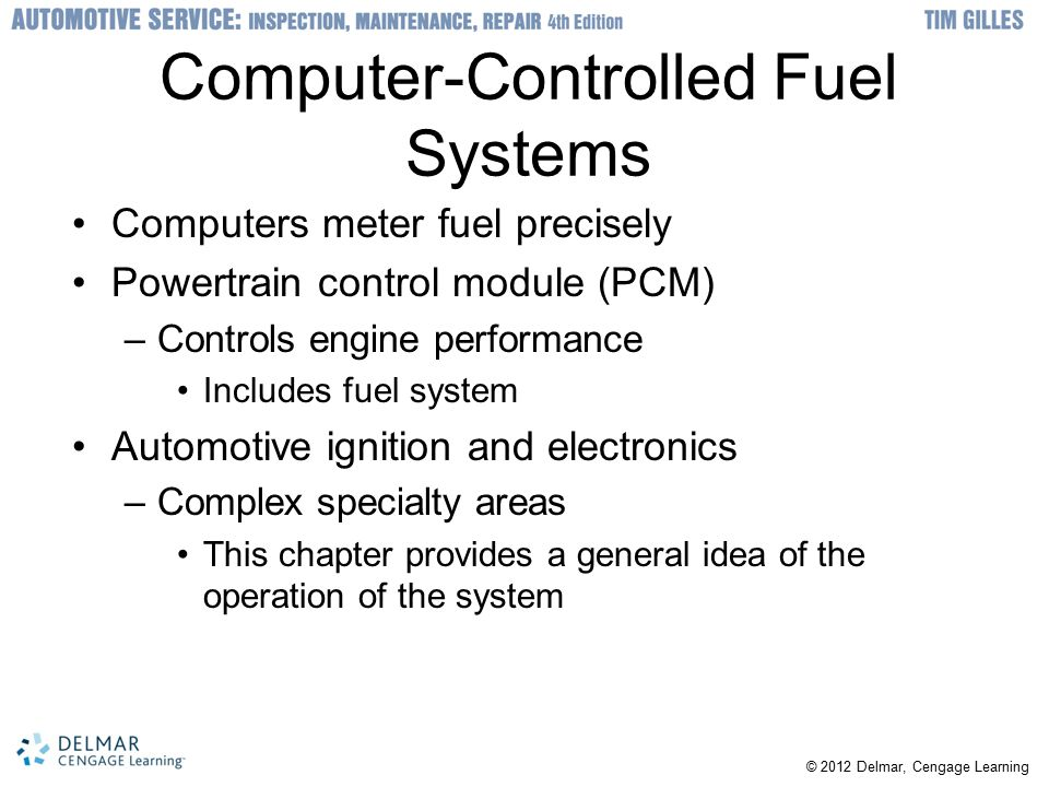 Computer-Controlled Fuel Systems
