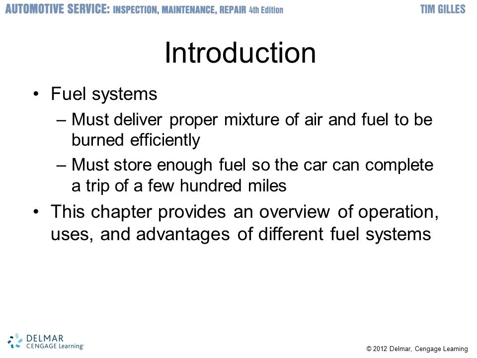 Introduction Fuel systems