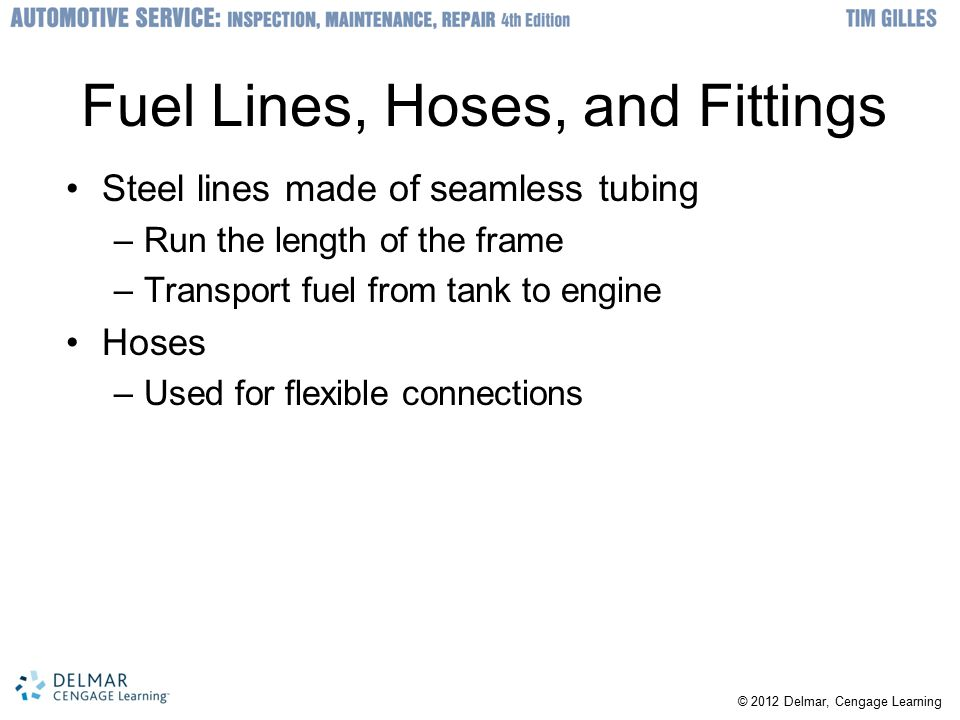 Fuel Lines, Hoses, and Fittings