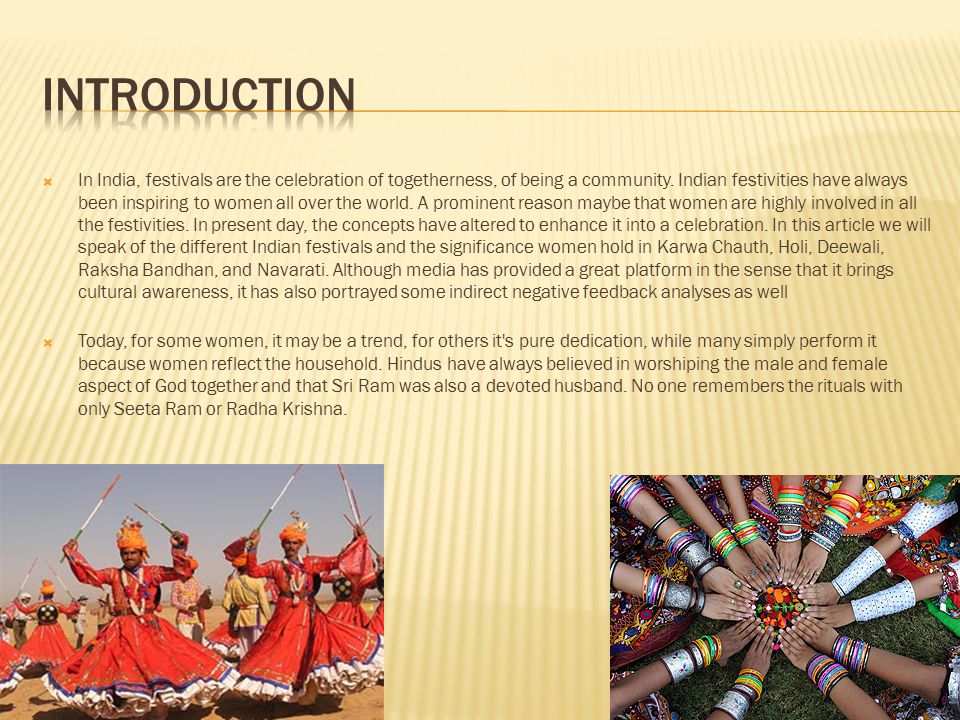 festivals of india introduction