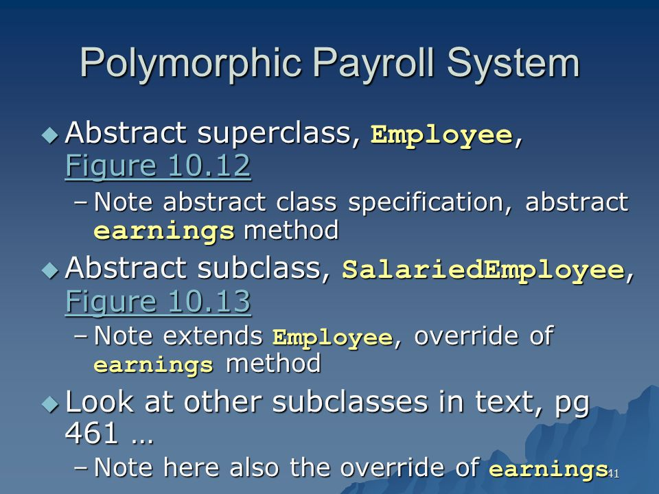 Polymorphic Payroll System