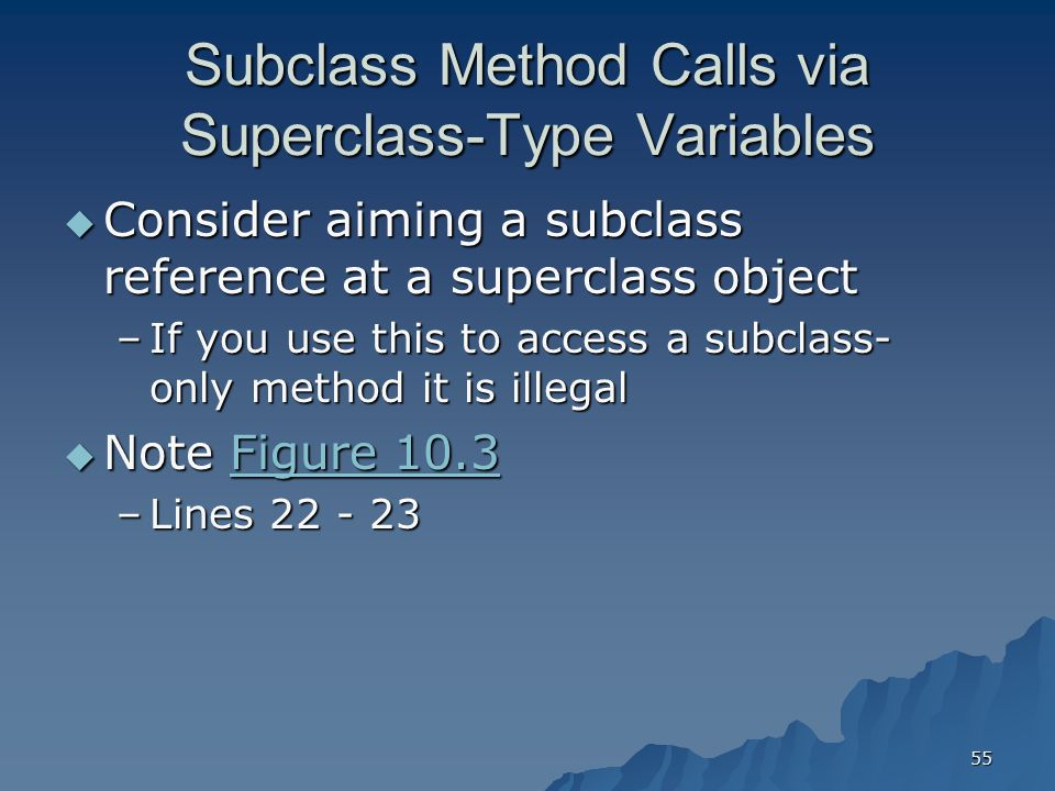 Subclass Method Calls via Superclass-Type Variables