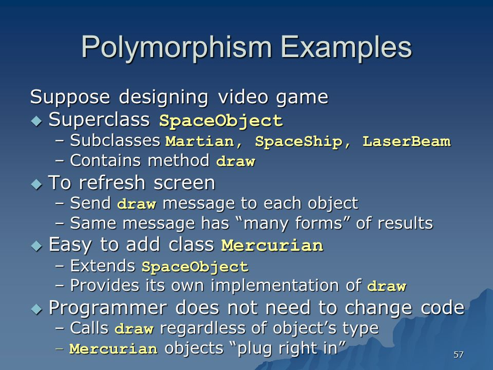 Polymorphism Examples