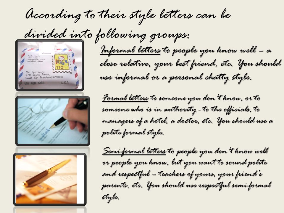 Writing letters ppt download according to their style letters can be divided into following groups spiritdancerdesigns Choice Image
