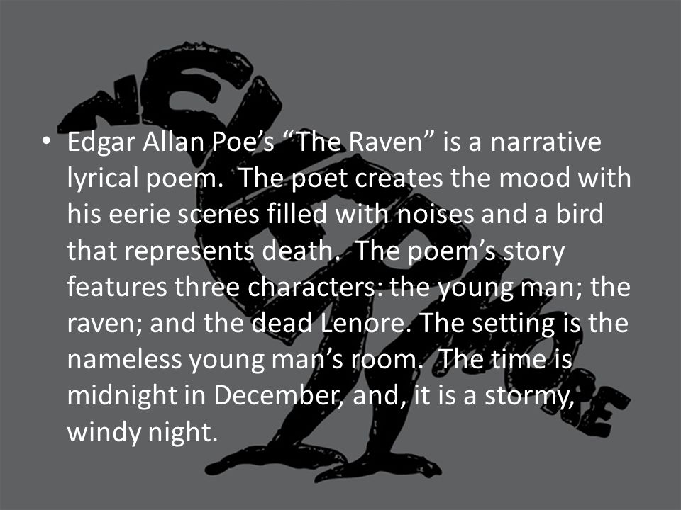 edgar allan poes life and the raven The raven by edgar allan poe (published 1845) once upon a midnight dreary, while i pondered, weak and weary, over many a quaint and curious volume of forgotten lore.