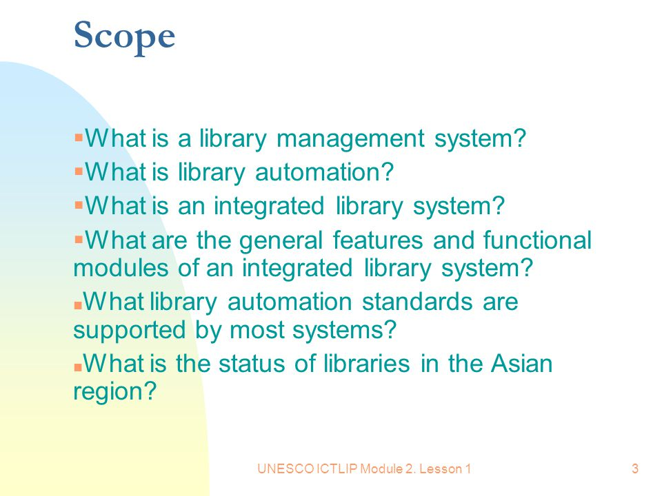 scope of library management system