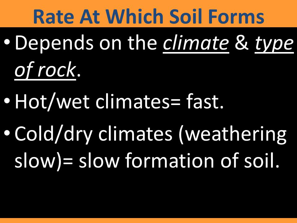 Rate At Which Soil Forms