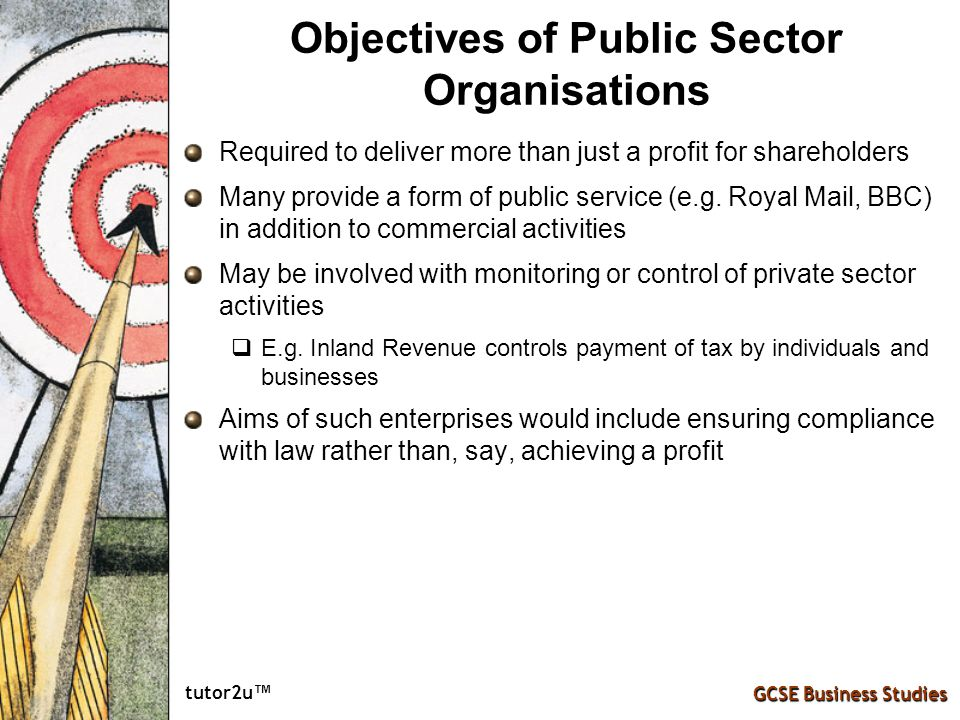 Objectives of Public Sector Organisations